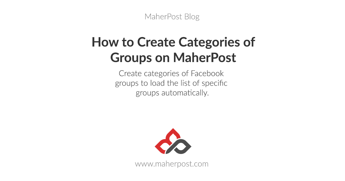 How to Create Categories of Groups