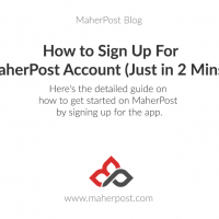 How to Sign up for MaherPost account